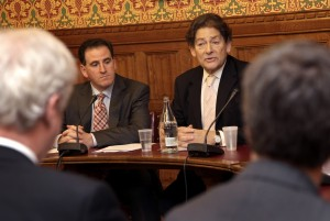 Lord Lawson and Benny Peiser launching the GWPF