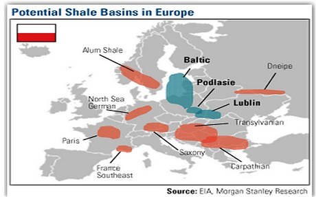 Potential shale basins Europe