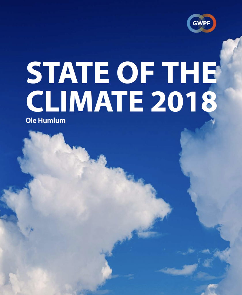 State of the Climate 2018: Global Warming Is Not